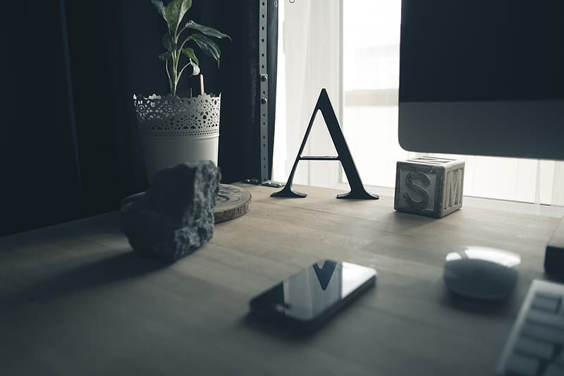Black and white wooden table decor