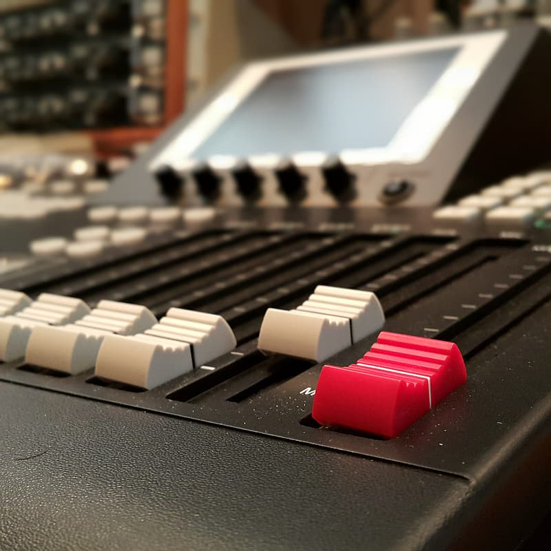 Black and grey mixing console