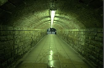 Empty concrete tunnel