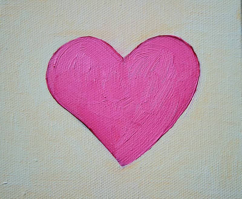 Pink heart painting