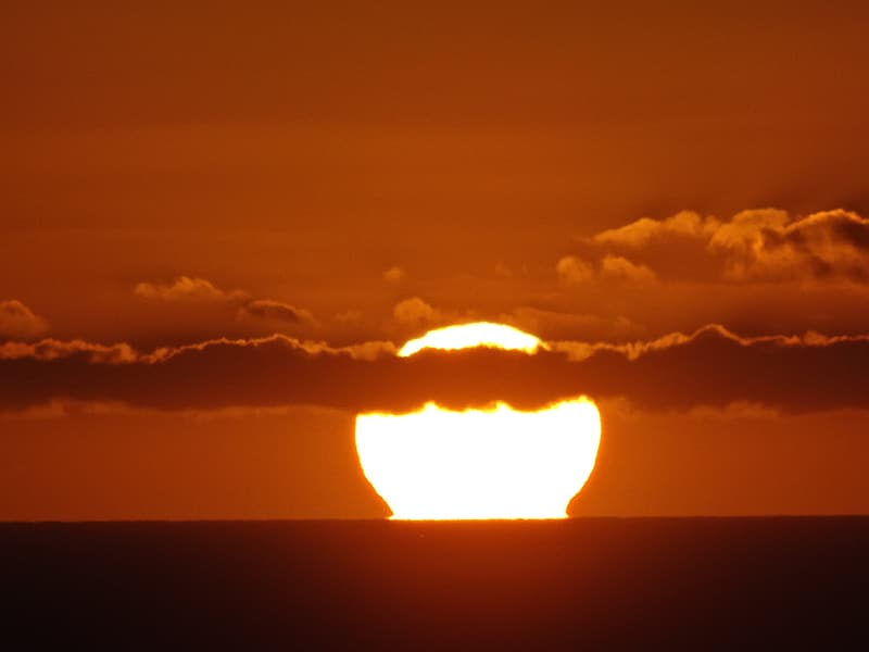Photographed of sunset