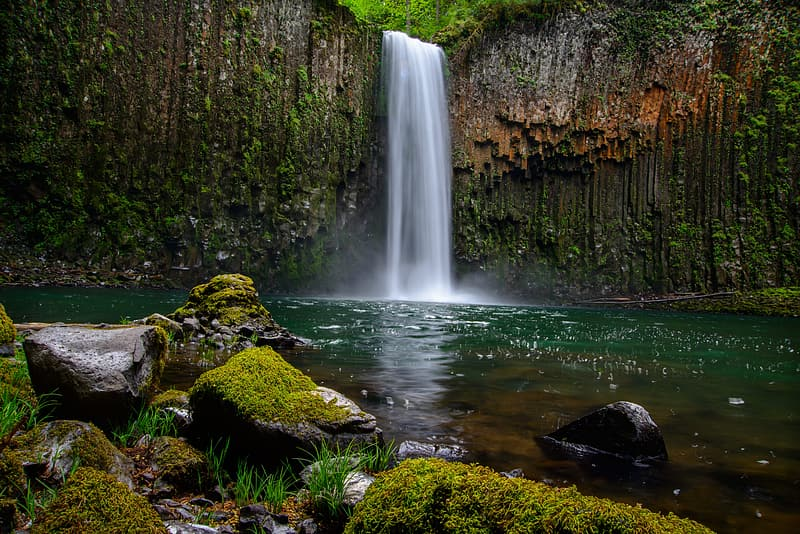 Shallow focus photography of waterfalls
