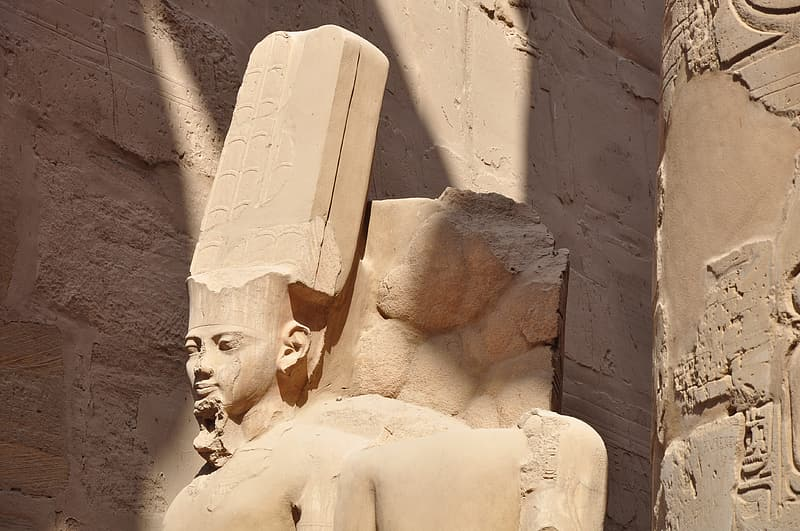 Architectural photography of Egyptian God statue