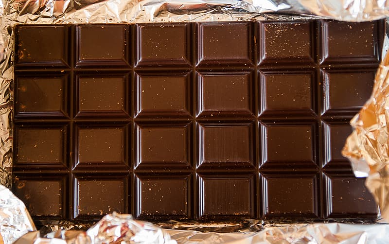 Close-up photography of chocolate bar