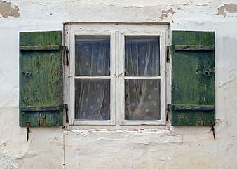 Closed window with screens