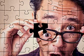 Person wearing eyeglasses jigsaw puzzle