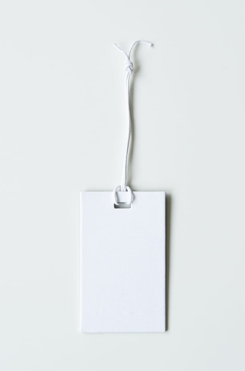 Photo of white bookmark