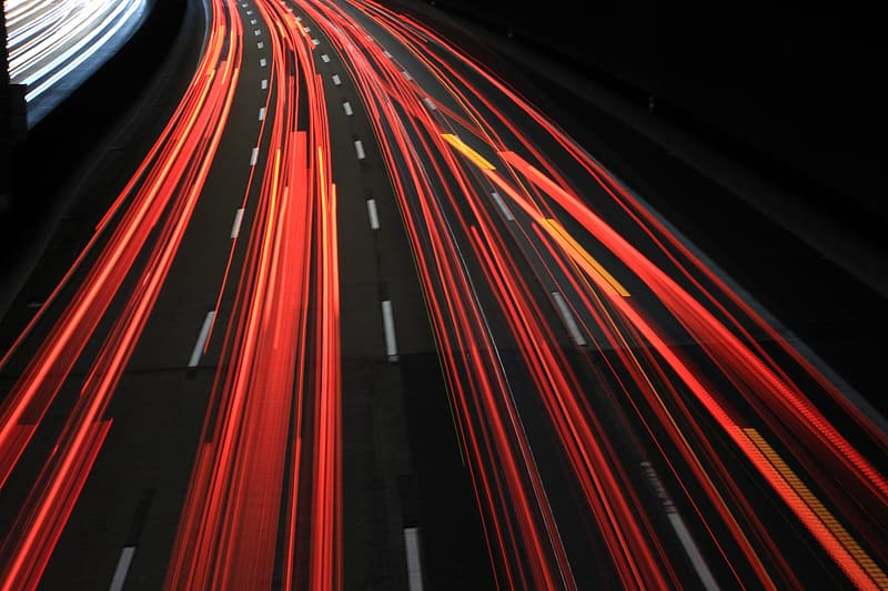 Long exposure road photography