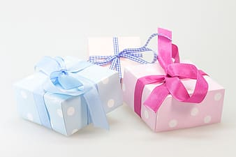 Several assorted-color gift boxes