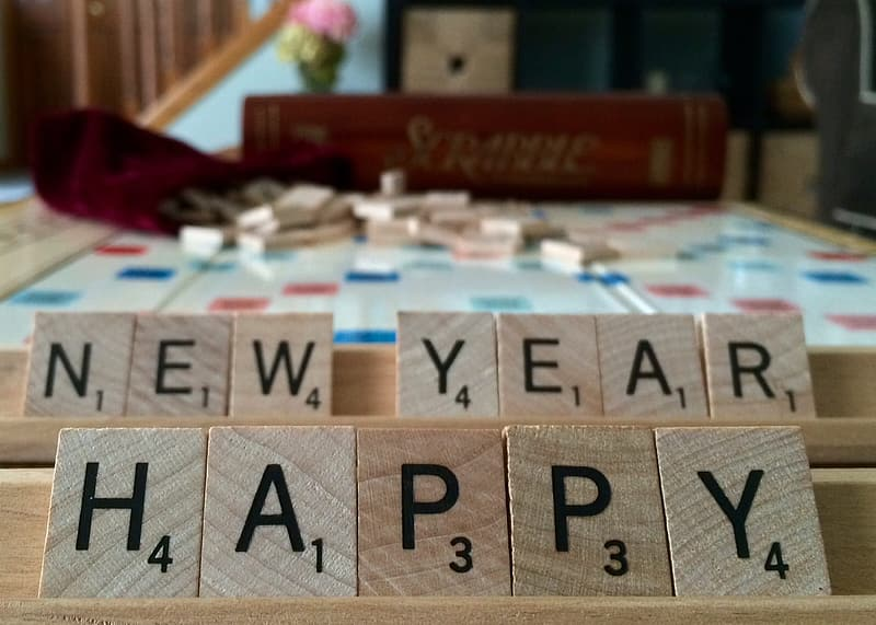 Selective focus photography of new year happy