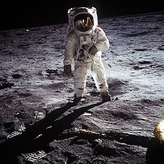 Person in astronaut suit