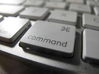 Close-up photo of keyboard command button