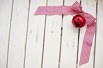 Red and white gingham ribbon