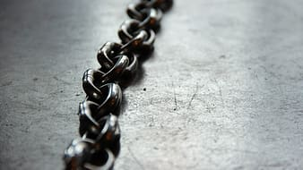 Close-up photography of black chain