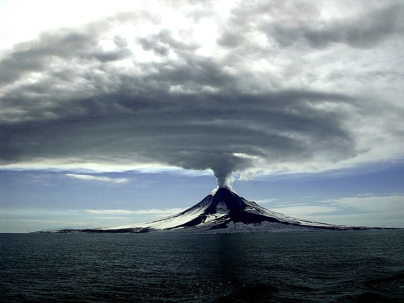Volcanic eruption photo