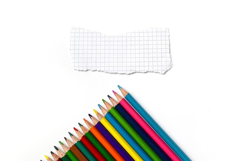 Assorted-color coloring pencils