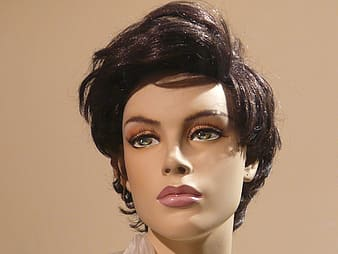 Female mannequin with short hair