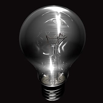 Edison bulb gray-scale photo