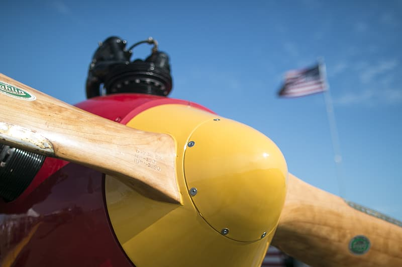 Yellow and brown propeller