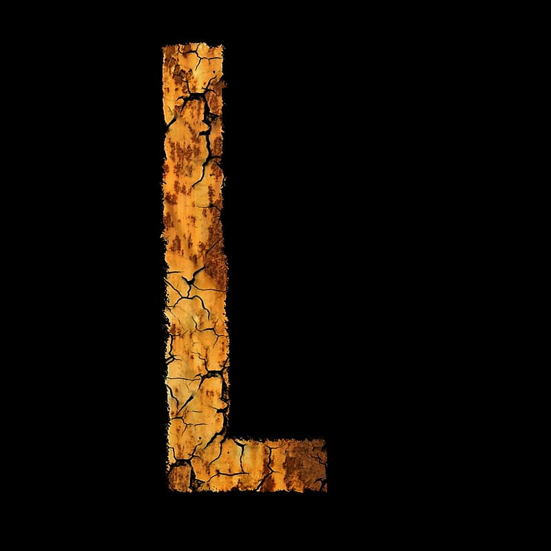 Brown and black L letter