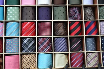 Assorted-color-and-pattern necktie lot