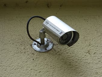 Gray bullet security camera
