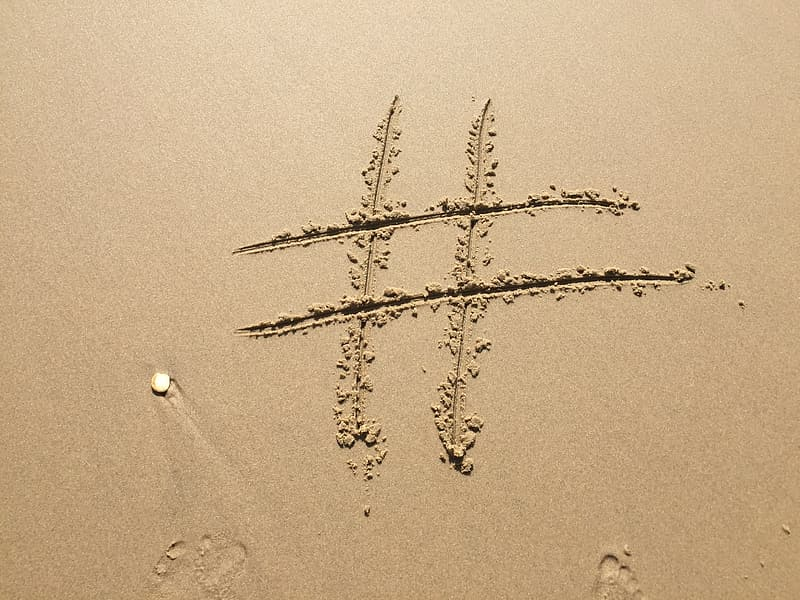 Brown sand with number sign