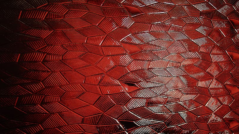 Red and black woven textile