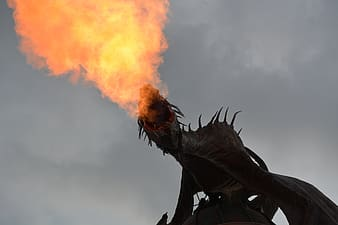 Dragon blowing flame