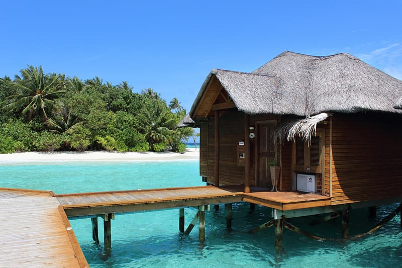 Cottage in the middle of the beach
