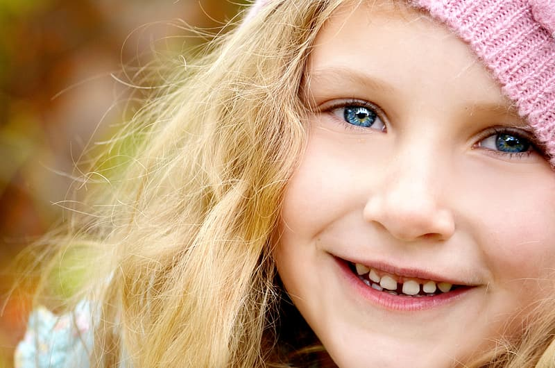 Close-up photo of girl's face