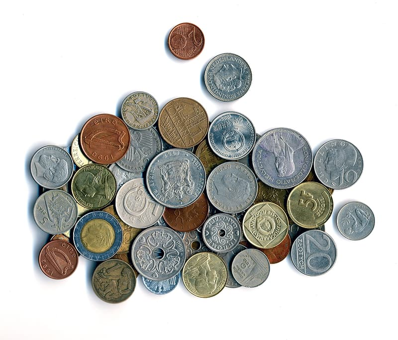 Round silver coin collections