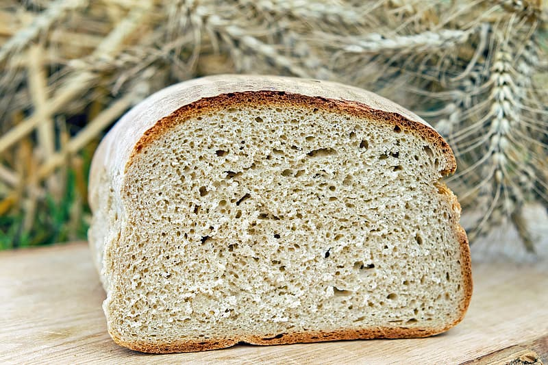 Loft bread on brown wooden surface