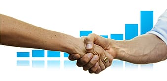Person shaking hands