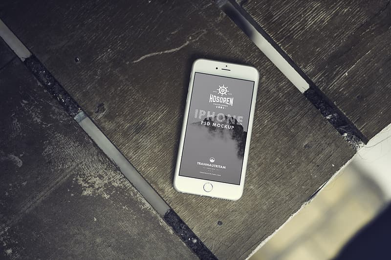 Turned on silver iPhone 6