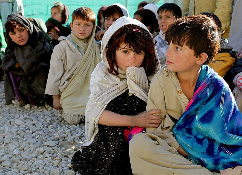 Group of children in syria