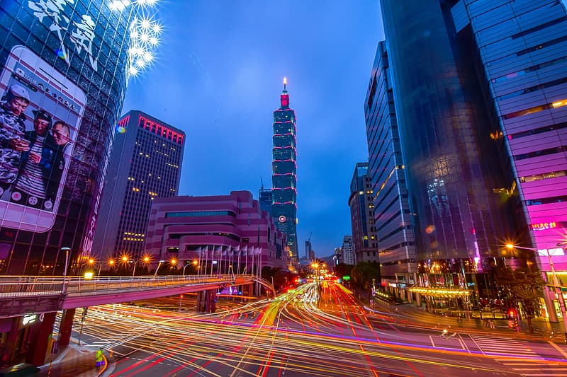 Time lapse photography of Taipei 101