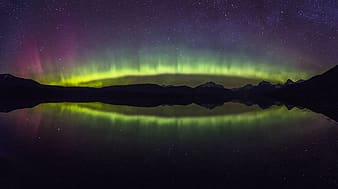 Silhouette photography of polar lights