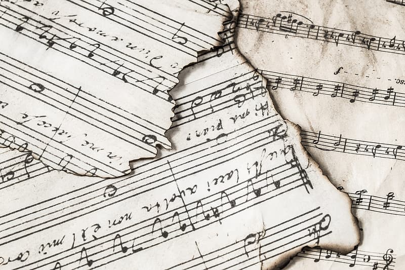 Burnt music sheets