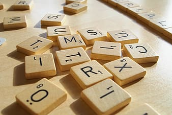 Close-up photo of wooden letters