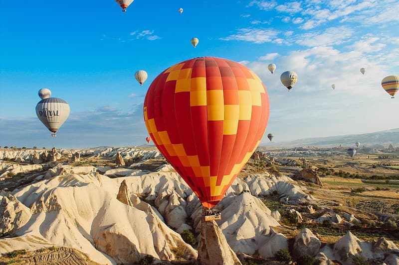 Photo of hot air balloons during daytime