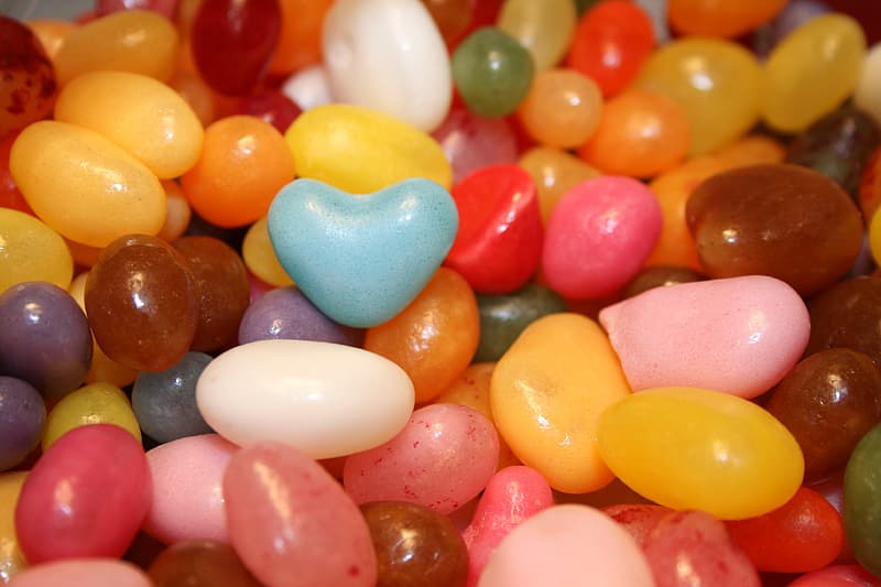 Assorted-color candies