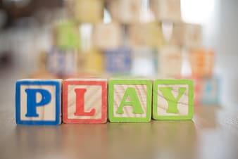 Play wooden blocks
