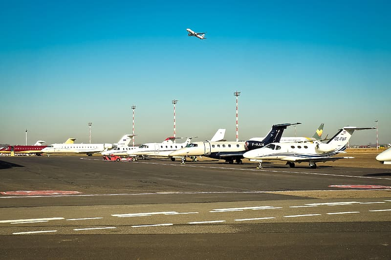 Airplanes on airport