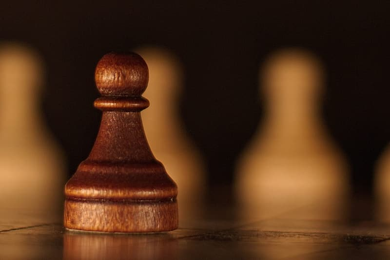 Wooden chess pawn piece