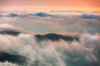 Birds eye view photography of clouds