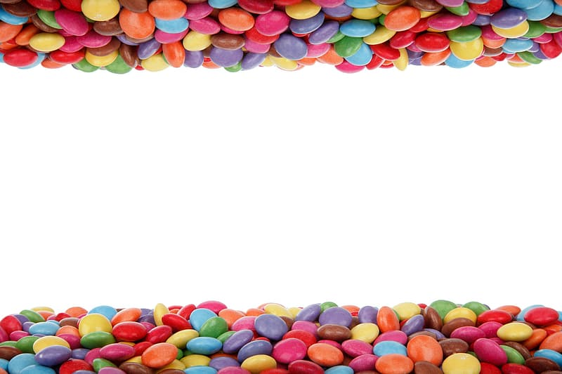 Round assorted-color candies wallapaper