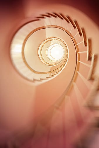 Architectural photography of spiral stairs