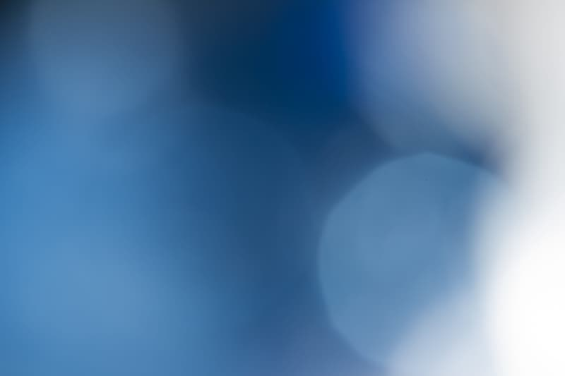 White and blue light bokeh