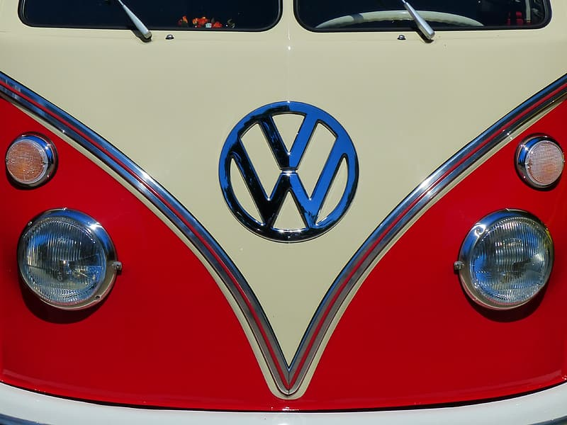 White and red Volkswagen T1 display